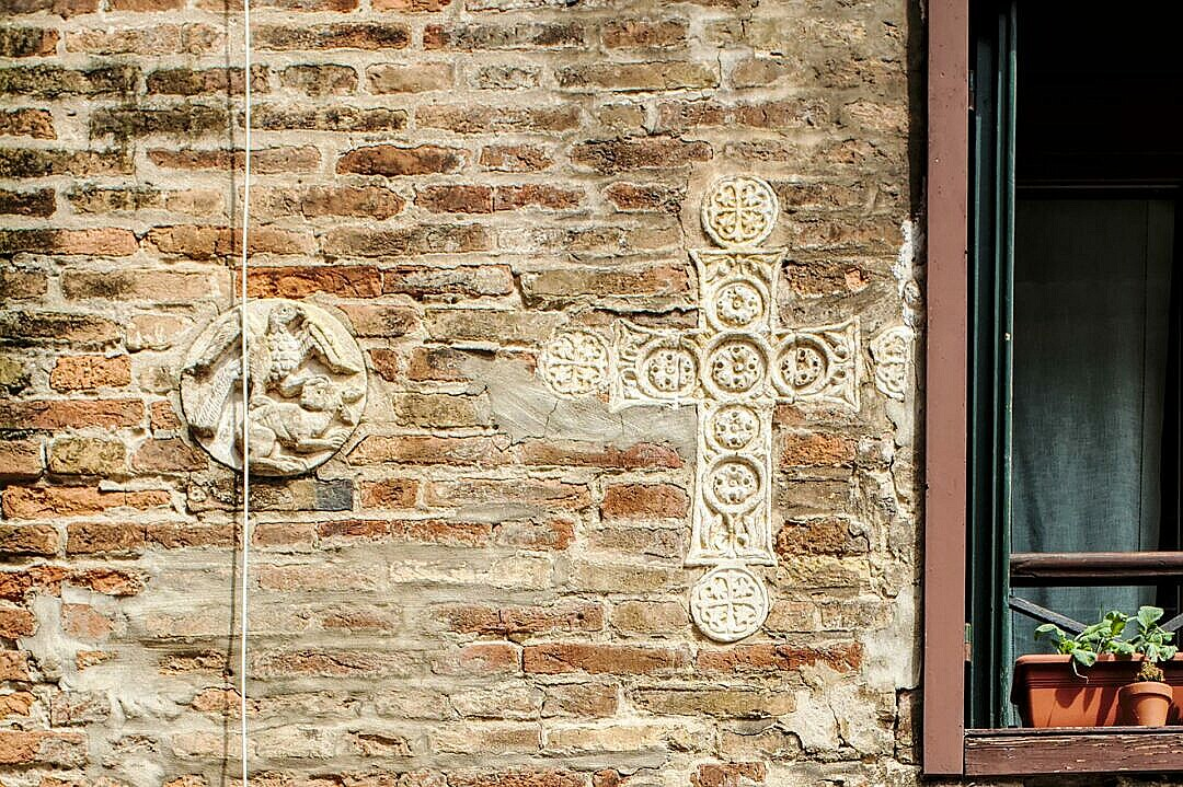 Byzantine art on the walls in Venice