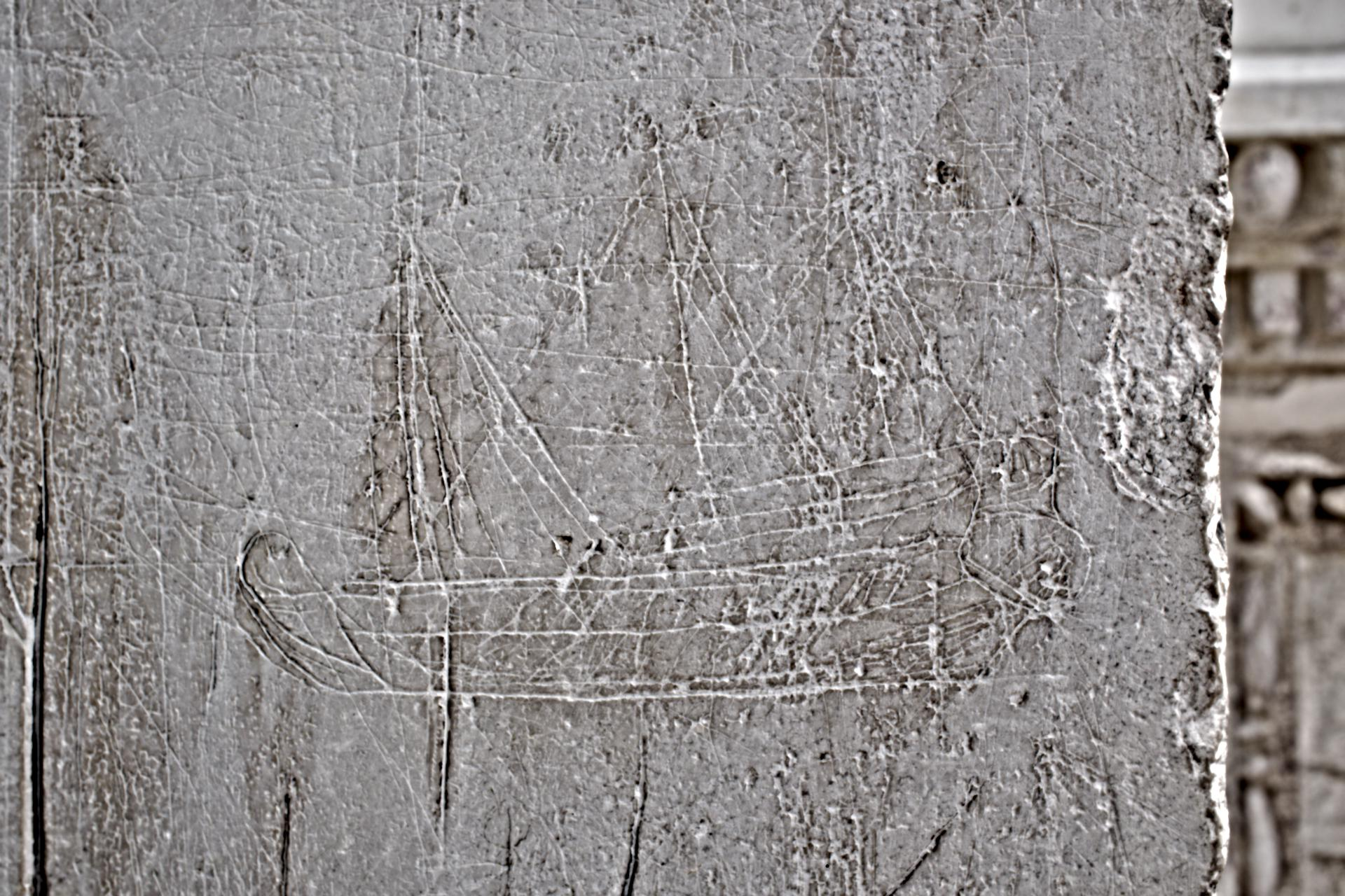 Ancient graffitti at the entrace of the hospital in Venice